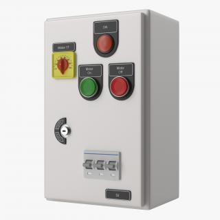 Industrial Electrical Panel 6 3D model