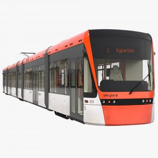 Light Rail Train Bybanen 3D model