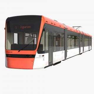 3D model Light Rail Train Bybanen Simple Interior
