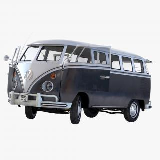 3D model Volkswagen Type 2 Black Rigged