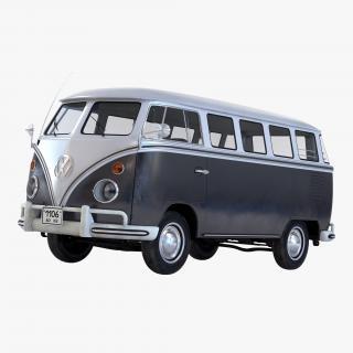 3D Volkswagen Type 2 Black model