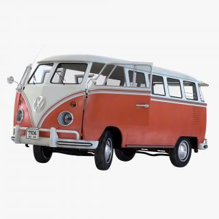 3D model Volkswagen Type 2 Brown Rigged
