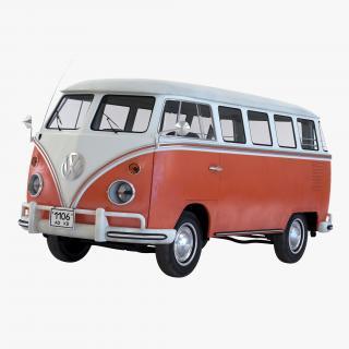 Volkswagen Type 2 Brown Simple Interior 3D model