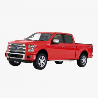 3D model Ford F-150 SuperCrew 2015