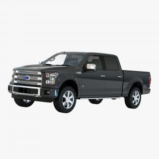 3D Ford F-150 SuperCrew 2015 Simple Interior