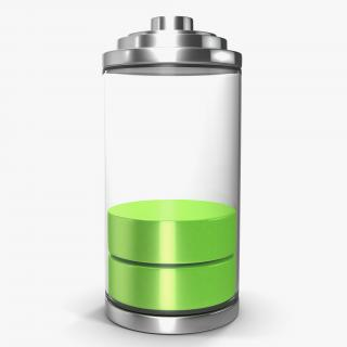 3D model Cell Phone Battery Icon 2