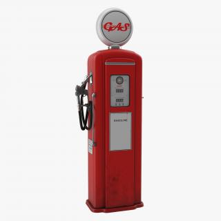 Retro Gas Pump 3D model