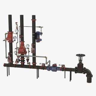 3D Industrial Pipes 2 model