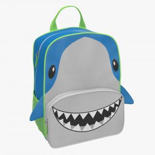 3D Kid Backpack Shark model
