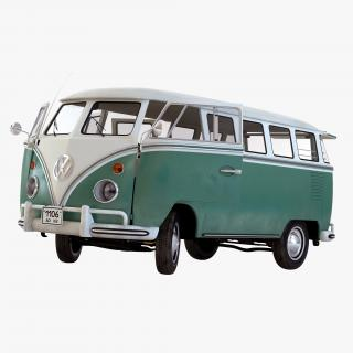 3D model Volkswagen Type 2 Green Rigged