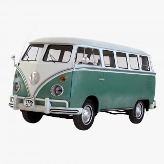 Volkswagen Type 2 Green Simple Interior 3D model