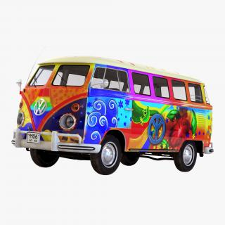Volkswagen Type 2 Hippie 3D model