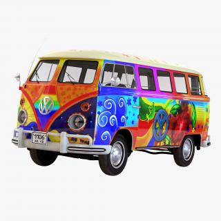 3D model Volkswagen Type 2 Hippie Simple Interior