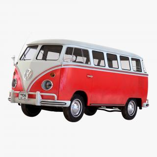 3D Volkswagen Type 2 Red