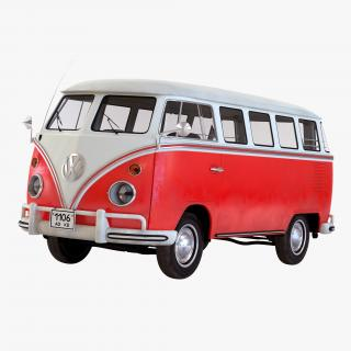 Volkswagen Type 2 Red Simple Interior 3D