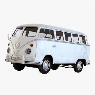 3D Volkswagen Type 2 White model