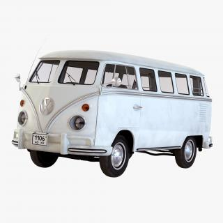 Volkswagen Type 2 White Simple Interior 3D model