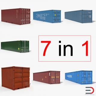 3D Containers Collection 3 model