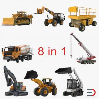 3D Construction Vehicles Rigged Collection 2