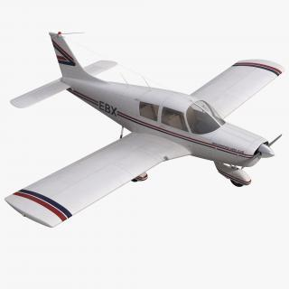 3D model Light Aircraft Piper PA-28 Cherokee