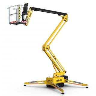Telescopic Boom Lift Yellow 3D