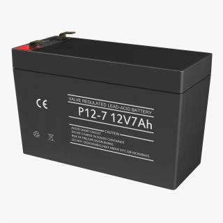 3D 12 Volt Battery Generic model
