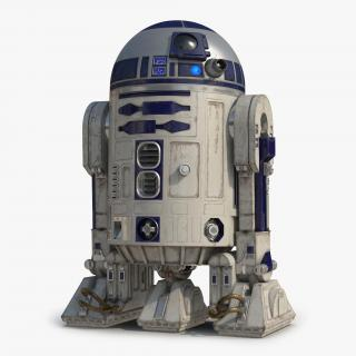R2 D2 Rigged 3D