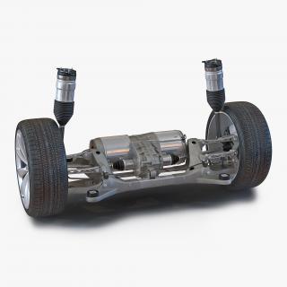 3D Tesla Model S Back Axle model