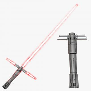 3D Kylo Ren Lightsaber 3D Models Set model
