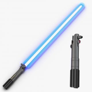 Luke Skywalker Lightsaber 3D Models Set 3D model