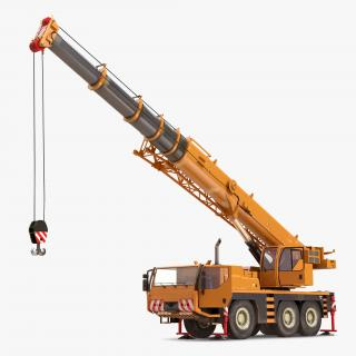 Compact Mobile Crane Rigged 2 3D model