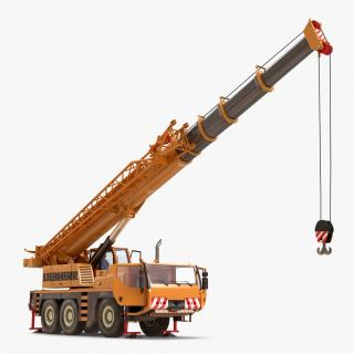 3D Compact Mobile Crane Liebherr Rigged
