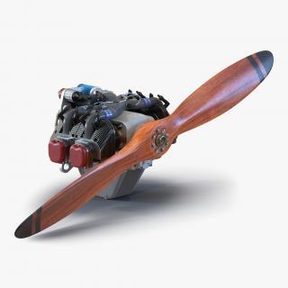 Piston Aircraft Engine ULPower UL260i 3 3D model