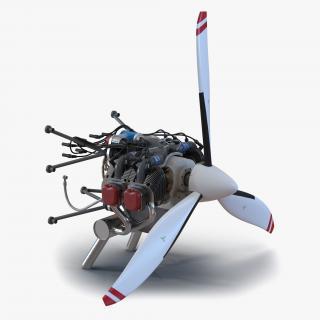 Piston Aircraft Engine ULPower UL260i 4 3D model