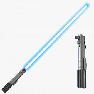 Luke Skywalker Lightsaber Used Set 3D Models 3D model