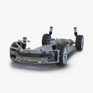3D Tesla Model S Chassis