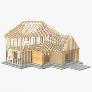 3D Private House Construction 6 model