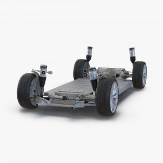 3D Tesla Model S Chassis 2 model