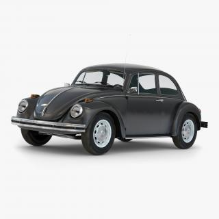 3D Volkswagen Beetle 1966 Black model
