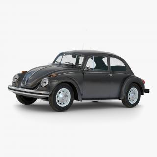 Volkswagen Beetle 1966 Simple Interior Black 3D model