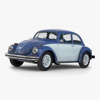 Volkswagen Beetle 1966 Blue 2 3D model