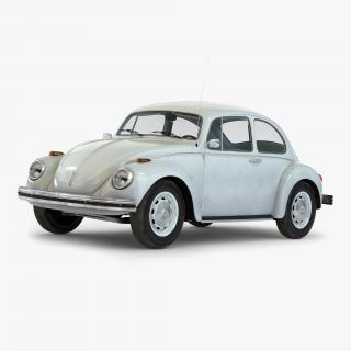 3D Volkswagen Beetle 1966 White model