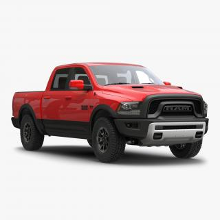 Dodge Ram Rebel 2016 Pikup Simple Interior 3D