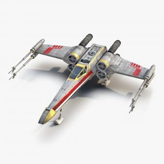 Star Wars X-Wing Starfighter Yellow 2 3D
