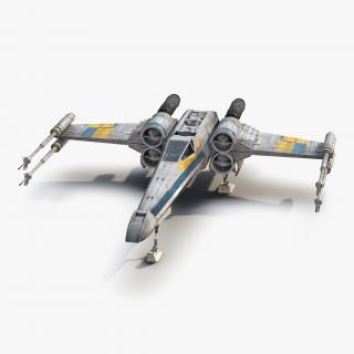 3D model Star Wars X-Wing Starfighter Blue 2