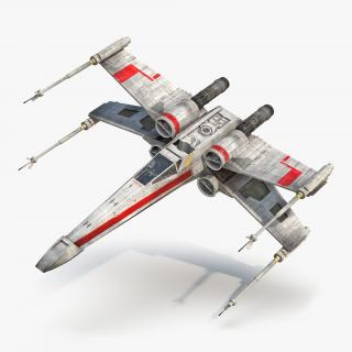 Star Wars X Wing Starfighter Red 3D