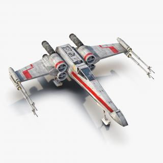 Star Wars X-Wing Starfighter Red 2 3D model