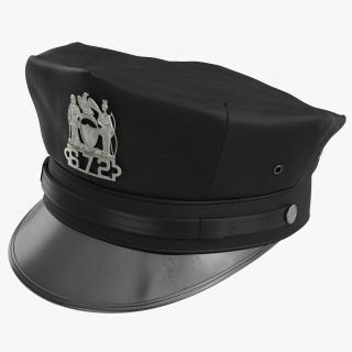 New York Police Hat 3D model