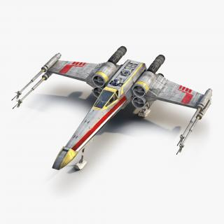 3D Star Wars X-Wing Starfighter and R2D2 Yellow 2