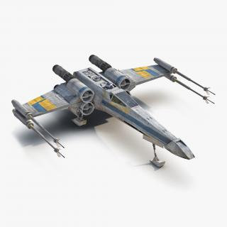 Star Wars X-Wing Starfighter and R2D2 Blue 2 3D model